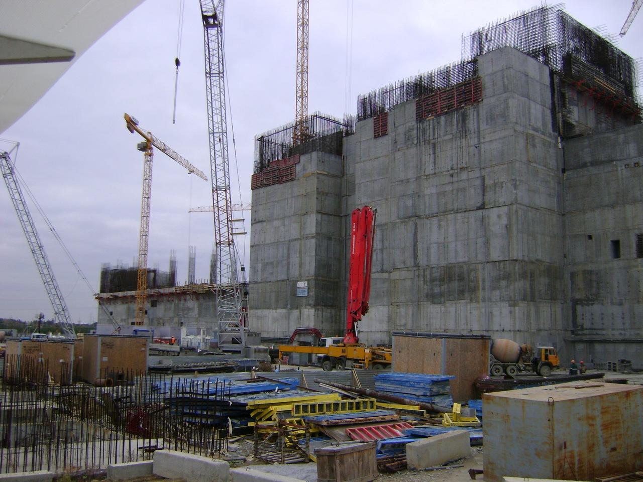 Строительство 4-го блока Белоярской АЭС (2011 год) Фото:  atomic-energy.ru