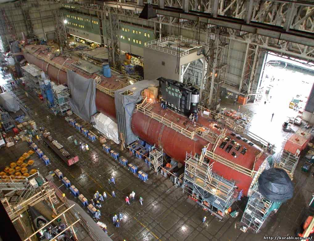 Производство подводных атомных лодок