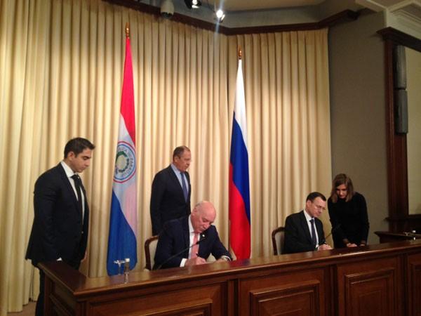 Россия и Парагвай подписали Меморандум о взаимопонимании по сотрудничеству области использования атомной энергии в мирных целях