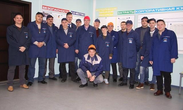 Представители АО «НПО «Высокоточные комплексы» переняли опыт КМЗ по внедрению принципов бережливого производства