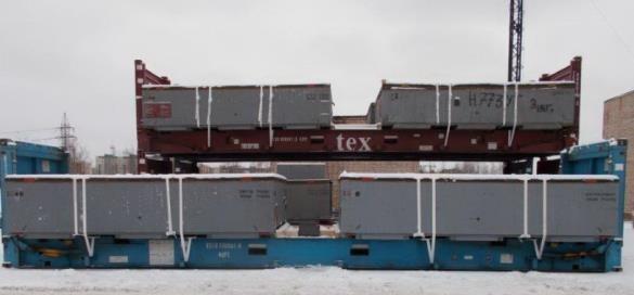 ИНКОТЕК КАРГО с использованием 16 специальных контейнеров типа 40' FLAT RACK отгрузила 2000 т оборудования для 2-й очереди АЭС Куданкулам