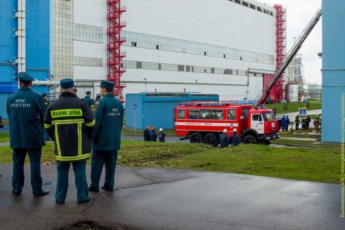 На Калининской АЭС прошла плановая противопожарная тренировка