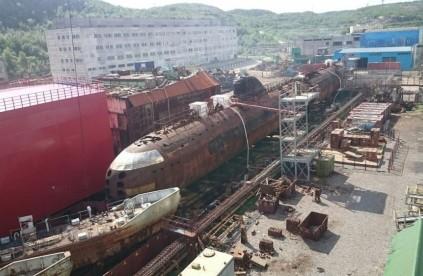 Первую атомную советскую лодку спустят на воду в апреле