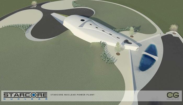 Футуристический дизайн проекта Starcore Nuclear