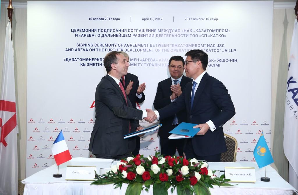 Казатомпром и Areva заключили стратегическое соглашение о развитии добычи урана в Казахстане