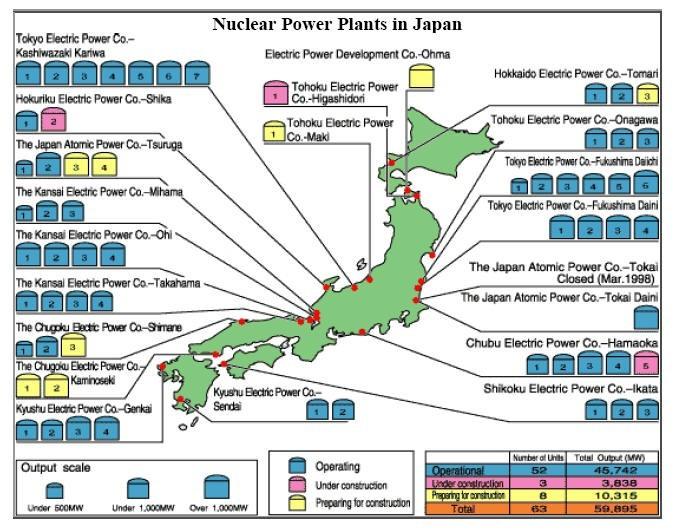 Землетрясение в Японии вызвало сбои в работе атомных станций