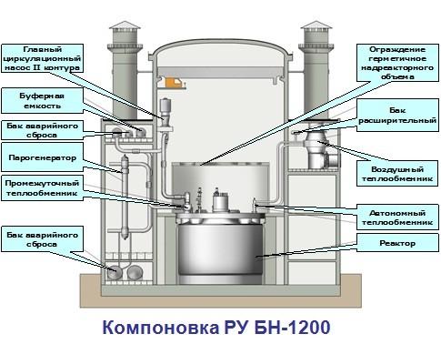 Новый российский блок АЭС БН-1200 можно возвести за 10 лет