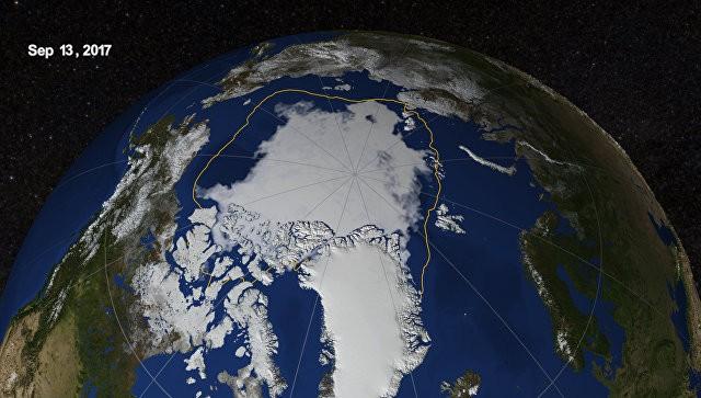 Сокращение льдов Арктики нынешним летом достигло рекордных значений