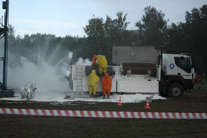 В рамках проведения XII Международного ядерного форума состоялось Показное тактико-специальное учение АСФ ФГУП АТЦ СПб