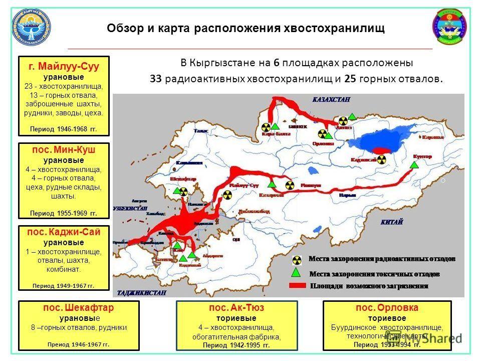 Киргизия просит помощи в рекультивации урановых отходов, оставшихся от СССР