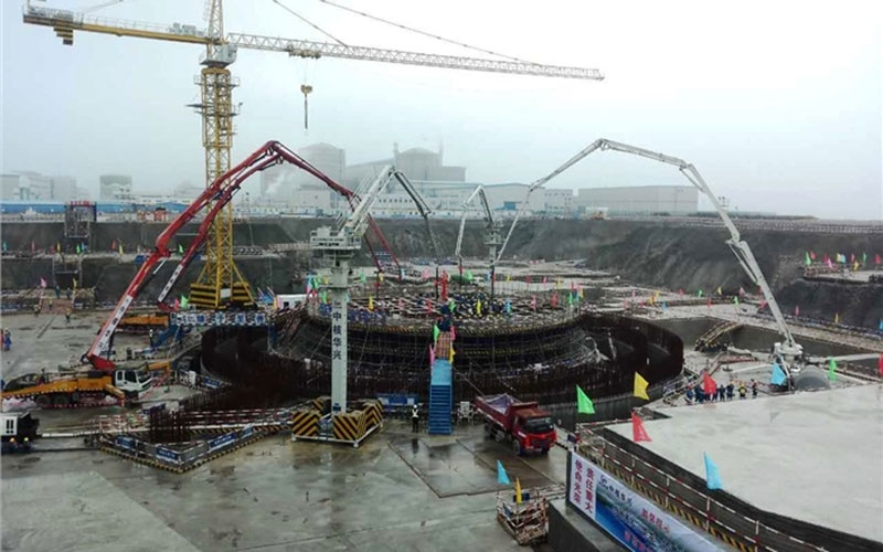 На строительстве АЭС Fangchenggang завершено бетонирование фундамента машзала