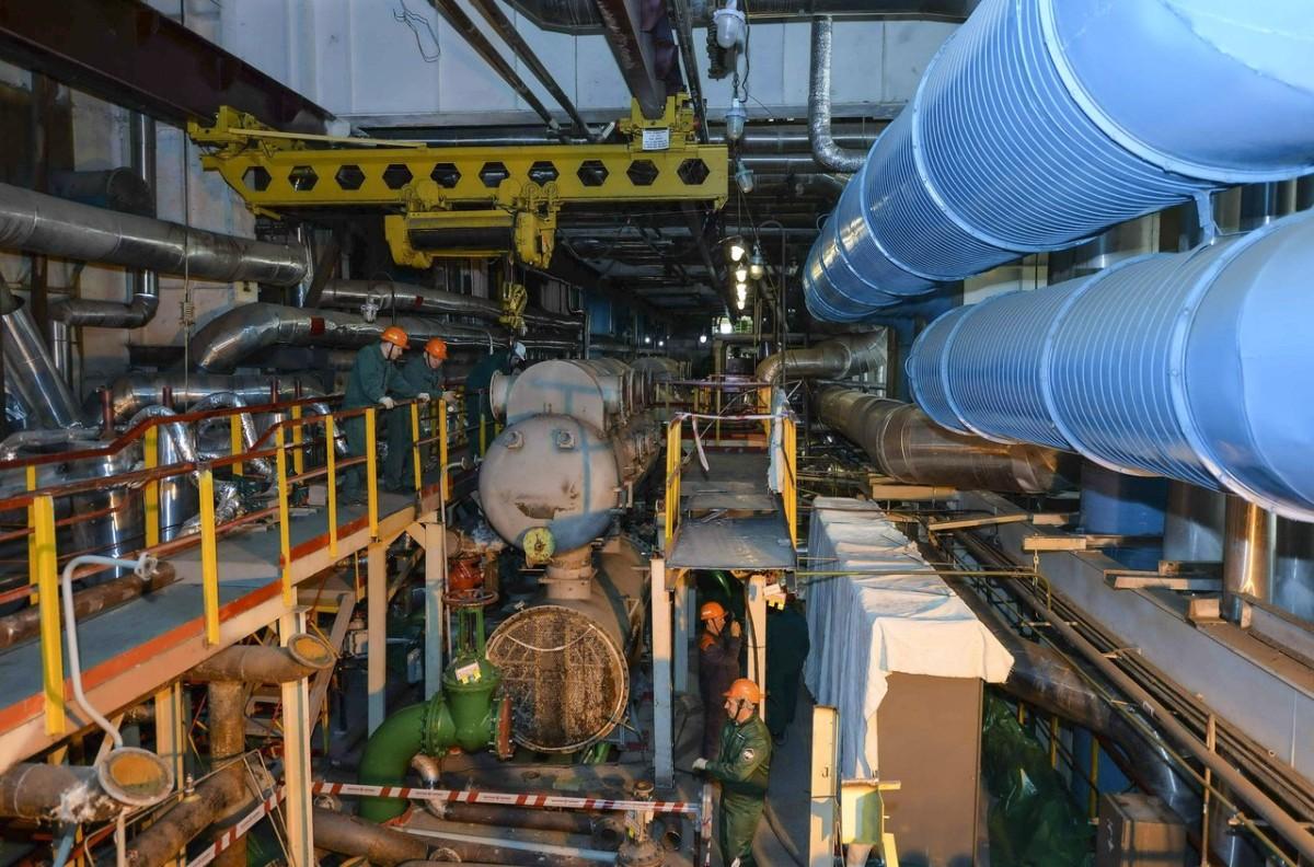 Специалисты «Волгодонскатомэнергоремонта» установили на блоке №1 Ростовской АЭС новые пароэжекторные машины