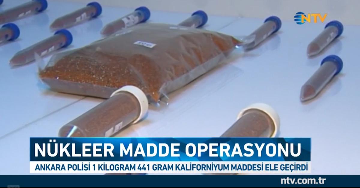 В Турции обнаружили тайник с полутора килограммами калифорния стоимостью 72 млн долларов