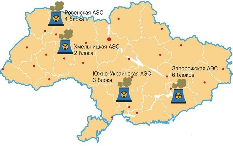 Энергоблок Ровенской АЭС, в 70 километрах от белорусской границы, отключили из-за неполадок