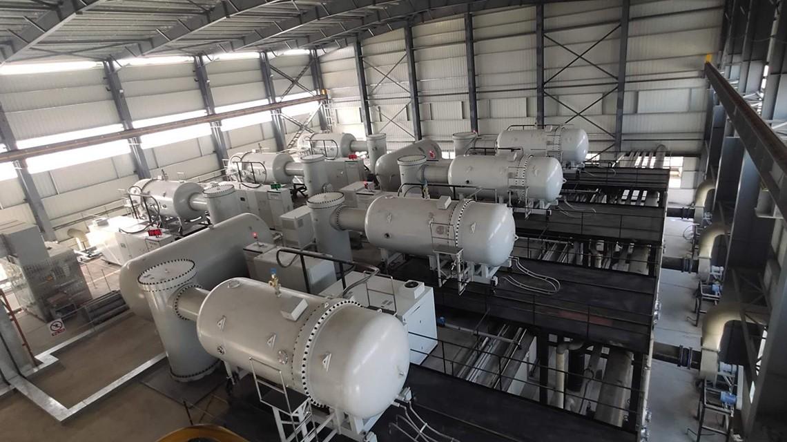 Семь ускорителей электронов работают в постоянно режиме по обработке печатных и красящих сточных вод на трикотажной фабрике Guanhua