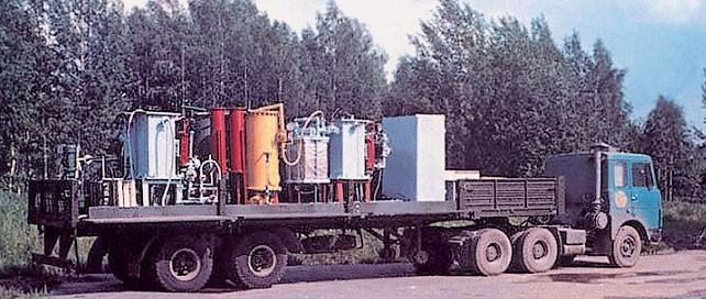 Первая передвижная установка очистки радиоактивных вод «ЭКО-1»
